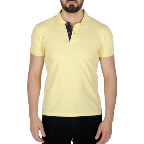 Solid Color Polo Shirt // Yellow (S)