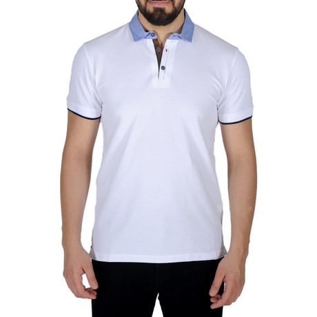 Solid Color Polo Shirt // White (S)