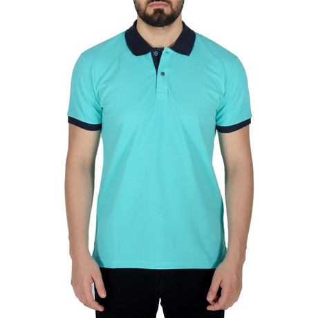 Solid Color Polo Shirt // Light Turquoise (S)