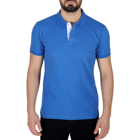 Solid Color Polo Shirt // Parliament Blue (S)