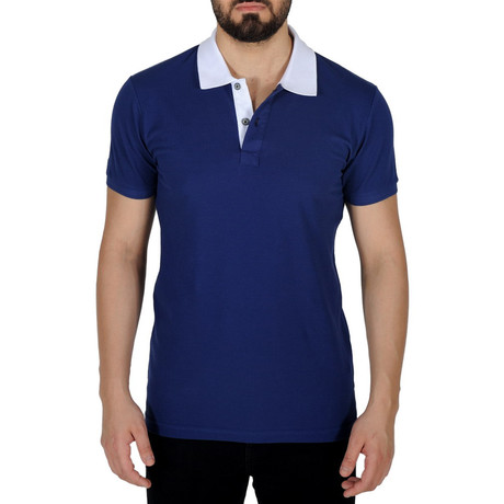 Solid Color Polo Shirt // Royal Blue (S)