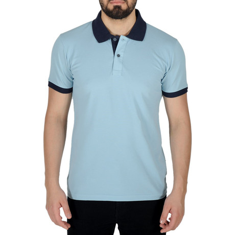 Solid Color Polo Shirt // Sky Blue (S)