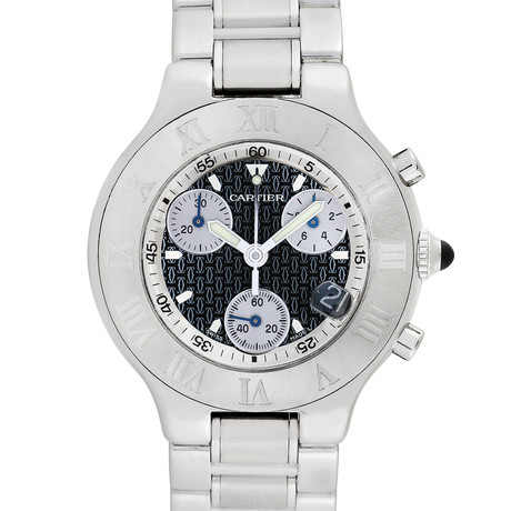 Cartier 21 Chronoscaph Quartz // 2424 // Pre-Owned