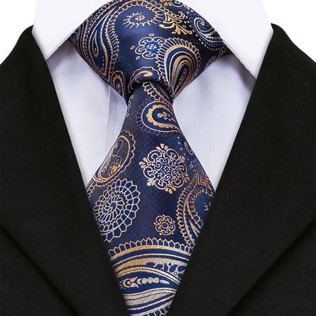 Esta Handmade Silk Tie // Navy + Tan