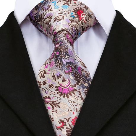 Eva Handmade Silk Tie // Pink + Purple
