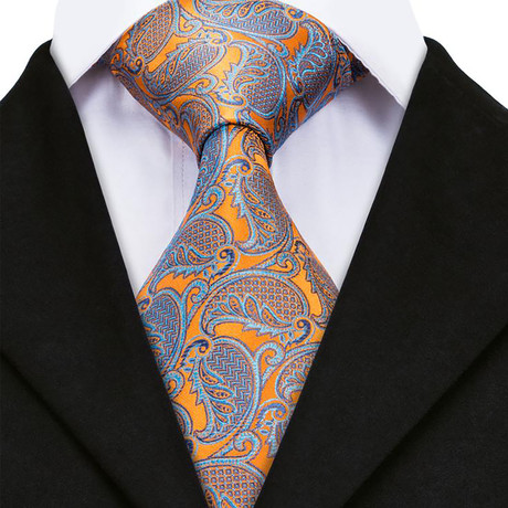 Jayson Handmade Silk Tie // Orange