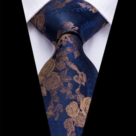 Devine Handmade Silk Tie // Blue + Gold