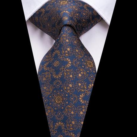 Verino Handmade Tie // Navy + Gold