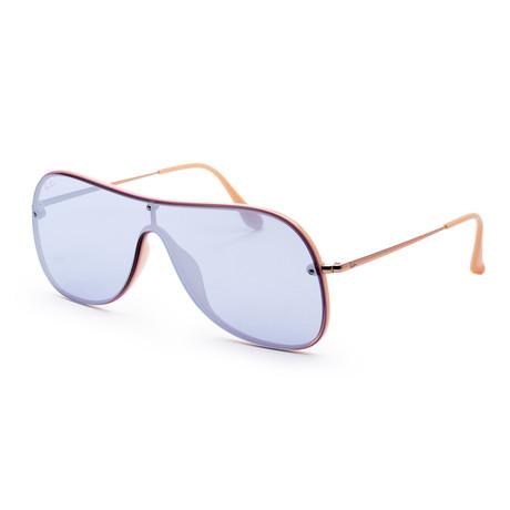 Men's RB4311N-63611U38 Sunglasses // Gold + Violet Mirror