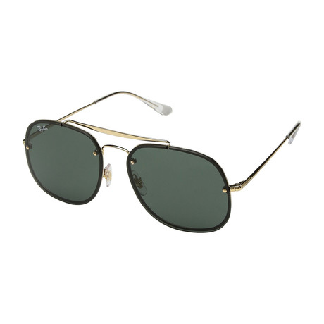 Unisex RB3583N-905071-58 Blaze Sunglasses // Gold + Dark Green