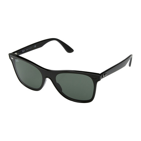 Unisex Blaze Sunglasses // Black + Green
