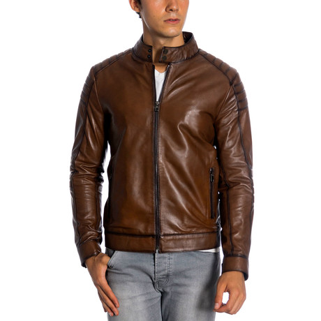 Kampton Leather Jacket // Antique (XS)