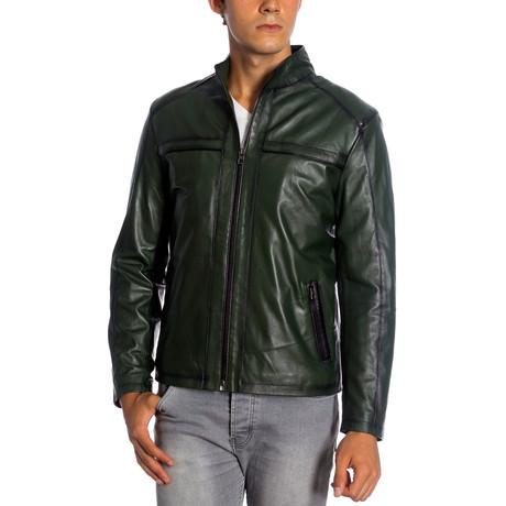 Zacksby Leather Jacket // Green (XS)