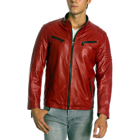 Gayson Leather Jacket // Red (XS)