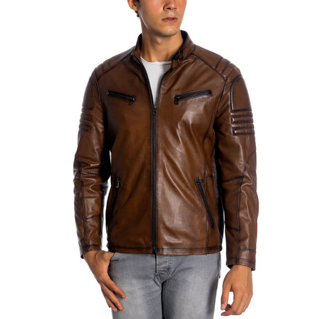 Kegan Leather Jacket // Antique (XS)