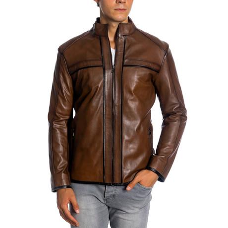 London Leather Jacket // Antique (XS)