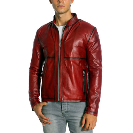 Jacoby Leather Jacket // Red (XS)