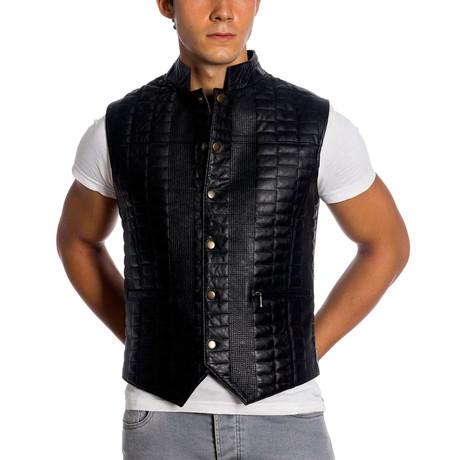 Lindsay Leather Vest // Black (XS)