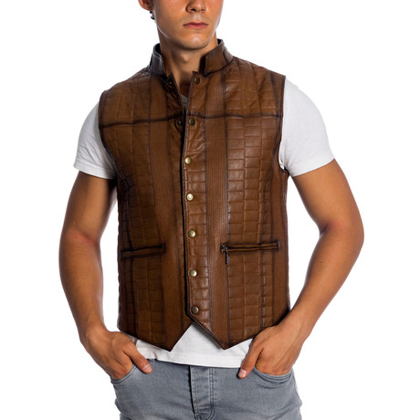 Youngston Leather Vest // Antique (XS)