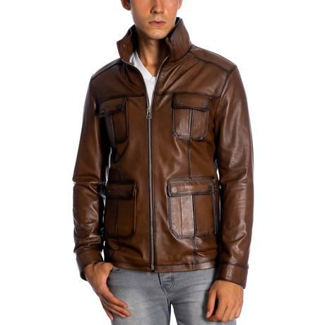 Tyron Leather Jacket // Antique (XS)