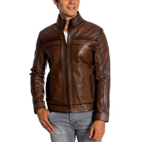 Indi Leather Jacket // Antique (XS)