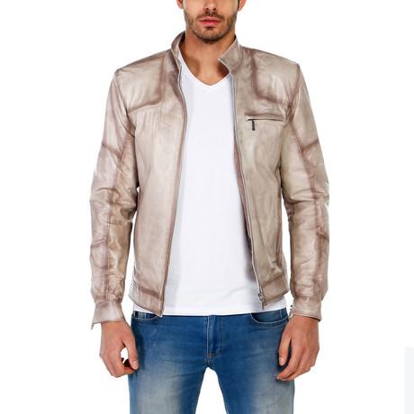 Darcy Leather Jacket // Beige (XS)