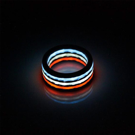 Liberty Aurora Carbon Fiber Ring // Red + White + Blue (7)