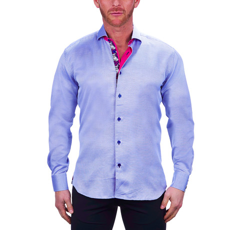 Einstein Small Diamond Dress Shirt // Blue (S)