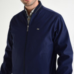Light Bomber Jacket // Navy Blue (XL)