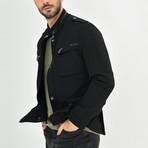 Textured Motto Jacket // Black (S)