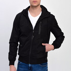 Hooded Jacket // Black (L)