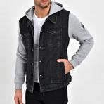 Denim Shirt Vest Jacket // Black (S)