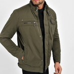 Twill Motto Jacket // Olive Green (M)