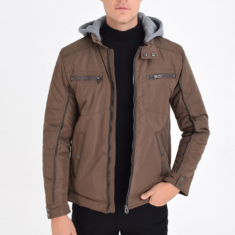 Hooded Jacket // Brown (S)