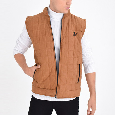 Quilted Textured Vest // Tab (S)