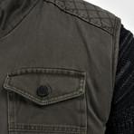 Twill Vest // Dark Green (S)