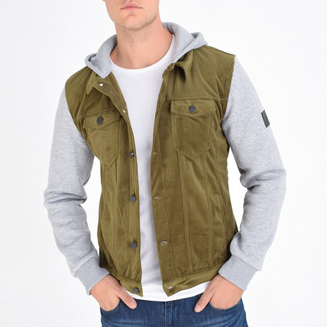 Shirt Vest Jacket // Olive Green (S)