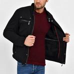 Twill Motto Jacket // Black (3XL)