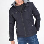Hooded Jacket // Navy Blue (S)
