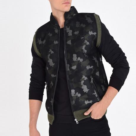 Camo Printed Vest // Green (S)