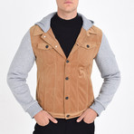 Shirt Vest Jacket // Tan (L)
