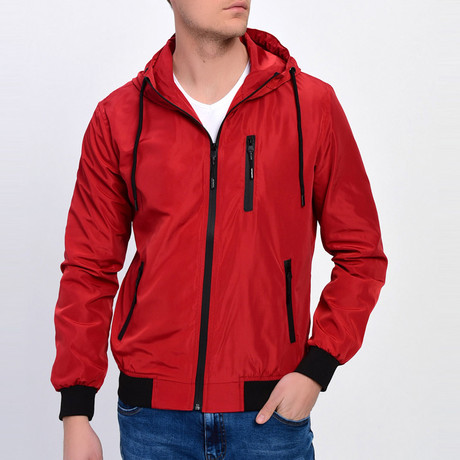 Hooded Jacket // Red (S)