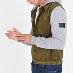 Shirt Vest Jacket // Olive Green (M)