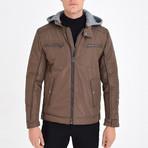 Hooded Jacket // Brown (XL)