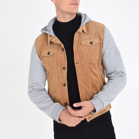 Shirt Vest Jacket // Tan (S)
