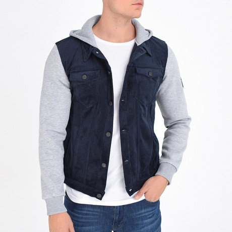 Shirt Vest Jacket // Navy Blue (S)