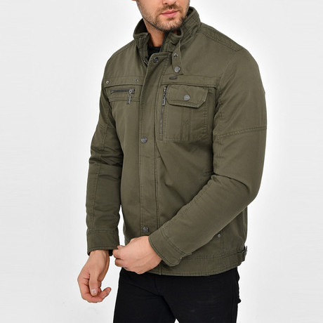 Twill Motto Jacket // Olive Green (S)