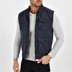 Twill Vest // Navy Blue (XL)