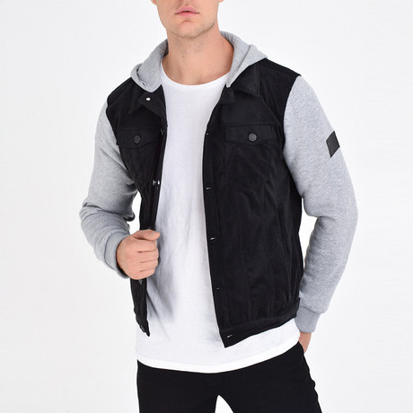Shirt Vest Jacket // Black (S)