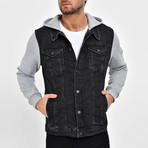 Denim Shirt Vest Jacket // Black (S)